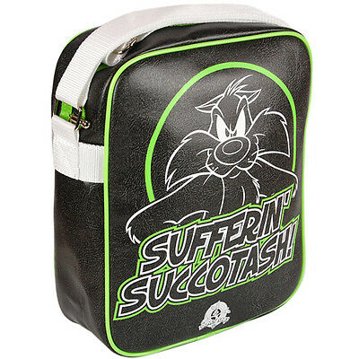 New Retro / Vintage Looney Tunes Sufferin Sylvester PVC Flight / SHOULDER BAG