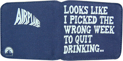 New Retro Airplane Picked Wrong Week to Quit Drinking Blue Canvas Wallet