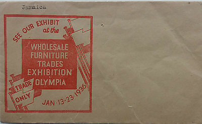 Great Britain 1936 Wholesale Furniture Trades Exhibition Olympia Illust Cover