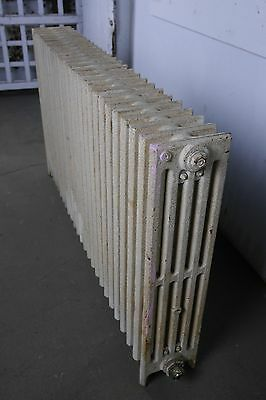 "Antique Vintage Crane 'Compac' Hot Water or Steam Radiator 26-Fin 46""L (CC3)"