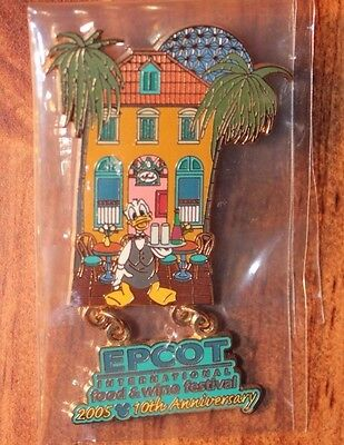 Disney WDW Epcot International Food and Wine Festival 2005 Donald Duck Pin LE