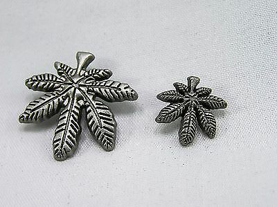 Punk Rivets Maple Leaf Antique silver 2 sizes jasz up your gear -bags belts hats