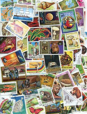 Guinea Stamp Collection - 500 Different - No Duplicates - $150 Value!