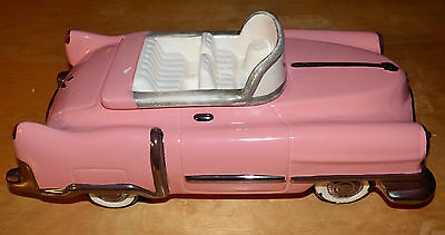 Large Convertible Pink Cadillac Cookie Jar by Expressive Designs First Edition
