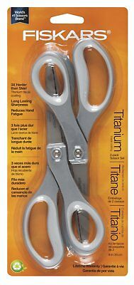 Fiskars Performance 2 Pack 8 Inch Softgrip Straight Titanium Scissors 5409
