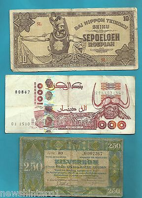 Three  World   Banknotes