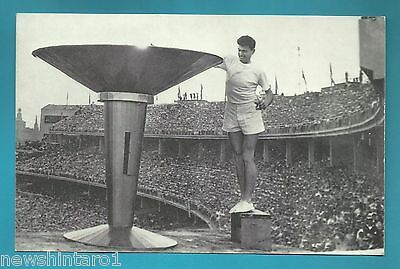 #d230.   Later   Postcard For 1956 Olympics - Ron  Clarke Lighting The Flame