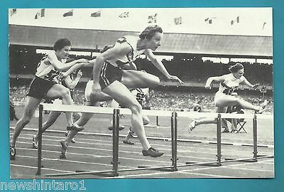 #d230.   Later Athletics  Postcard For 1956 Olympics - Shirley  Strickland