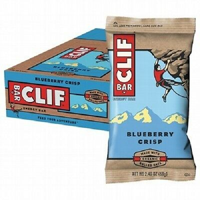 Clif Bar Energy Bars - Cliff Bars Box Of 12 X 68g Bars Blueberry Crisp