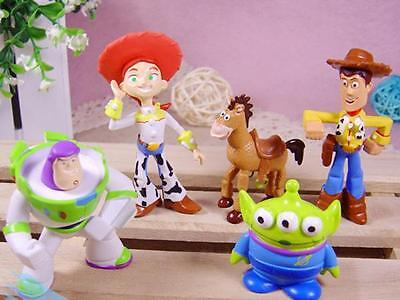 Toy Story 5Pcs Figures Cake Toppers Buzz Woody Uk Seller