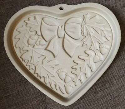 Pampered Chef 2003 Autumn Wreath Seasons of the Heart Stoneware Cookie Mold