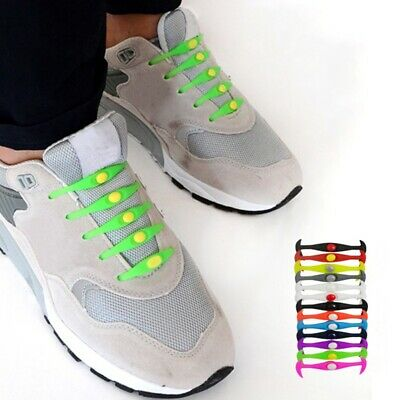 New Shoelaces Chic Elastic Sports Shoe Laces Lock No Tie Kids Safety Shoestrings