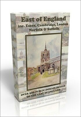 East of England inc Cambridge, Essex - over 500 public domain pictures on DVD