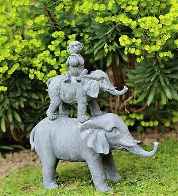 Elephant Monkey Garden Ornament Outdoor Indoor Statue Animals Decor Sculpture
