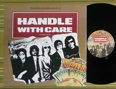 "Traveling Wilburys, Handle With Care /george Harrison 12"" Ep Uk 1St Press Nm/ex+"