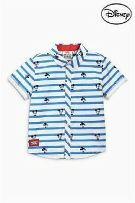 Next Disney Baby Boys Mickey Mouse Striped Shirt, Sizes 3-6 and 12-18 Months