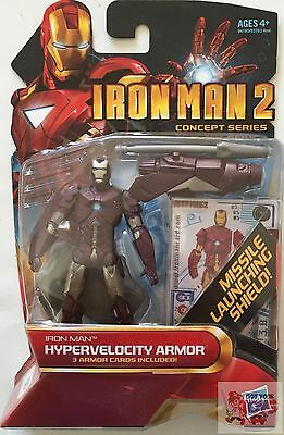 "HYPERVELOCITY ARMOR Iron Man MARVEL Concept Series 2009 3.75"" INCH ACTION FIGURE"