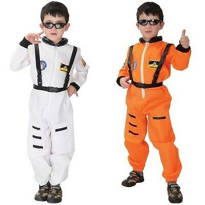 Children Child Spaceman Astronaut Fancy Dress Costume Kids Boys Birthday Gifts