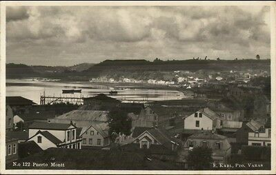 Puerto Montt Chile c1920s Real Photo Postcard