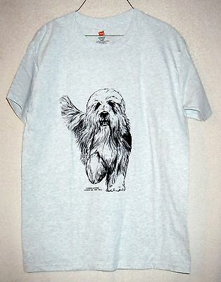 BEARDED COLLIE  Coming&Going Hanes Short-sleeved T-shirt / Adult Unisex Sizes