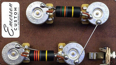 Emerson Custom Prewired Kit LP Long Shaft Bumblebee Caps fits Les Paul ®