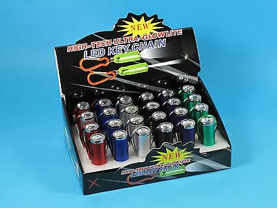 24 Led Keyring Chain Torch Zoom In Out Flashlight Wholesale Bulk Pack