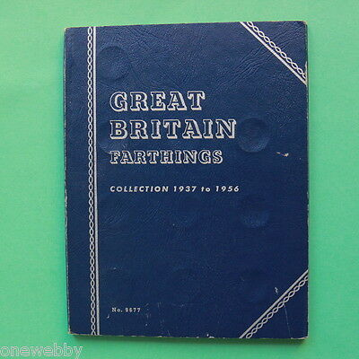 1937 to 1956 George VI Elizabeth II Complete Whitman Farthing folder SNo19269