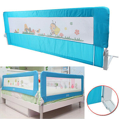 150cm Blue Safety Child Toddler Bed Rail Baby Bedrail Fold Cot Guard Protection