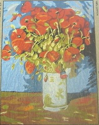 Vase Of Poppies Van Gogh Tapestry Needlepoint Canvas Collection D'Art