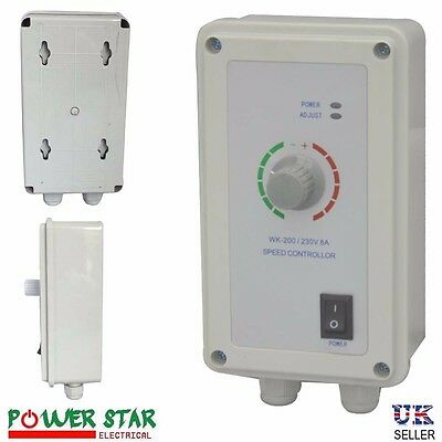 Fan Speed Controller Industrial Ventilation Heavy Duty Extractor 5A 8A 15A AMP