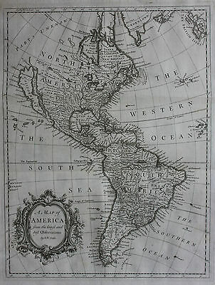 Rare original antique map, AMERICA, INSULAR CALIFORNIA, R.W. Seale, 1744