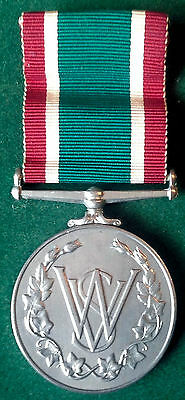 100% Genuine Full Size Womens Voluntary Service (Wvs) Long Service Medal