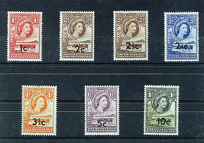 Bechuanaland 1961 Definitives Sg157/163 Mnh