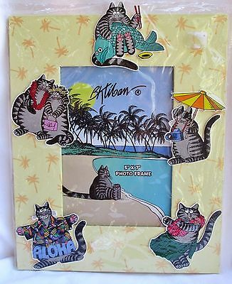 "B. KLIBAN Cats & More Cats PHOTO FRAME Fun Vacation HAWAII Island 5""x7"" 3D"