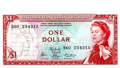 East Caribbean States … P-13f … 1 Dollar … ND(1965) … *UNC*