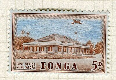 TONGA;  1953 early Queen Salote issue fine Mint hinged 5d. value