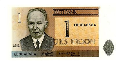 Estonia … P-69 … 1 Kroon … 1992 … *UNC* Side radar serial 48584.