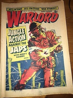 Warlord Comic #41 July 5th 1975 very nice condition