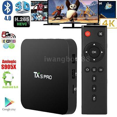 TX5 PRO Amlogic S905X Android 6.0 TV Box Quad Core Miracast Media Player F4R3