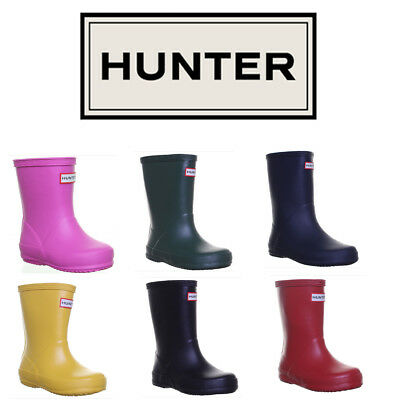Hunter Boots Infants Kids First Rubber Wellies Wellington