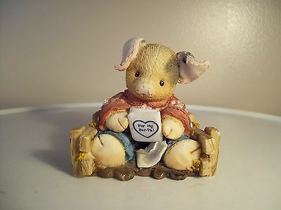 "Vintage This Little Piggy "" Pen Pals"" 1996  Enesco Figurine"