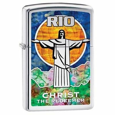 Zippo Windproof Christ The Redeemer Fusion Design Lighter, 29256, New In Box