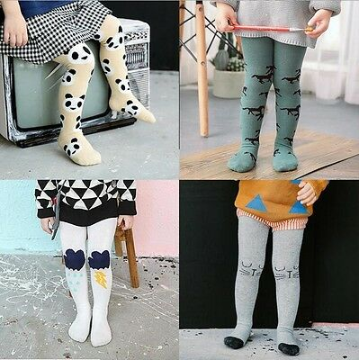 1-3T Toddler Baby Girls Boys Knitted Warm Socks Pants Trousers Tights Stockings
