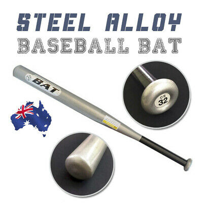 "Outdoor Sports 32"" Steel alloy Silver Baseball Bat Racket Softball Lightweight"