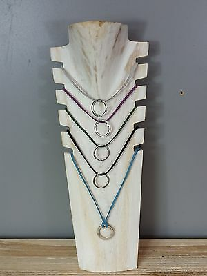 Necklace Jewellery Display Stand Multiple Whitewash Business or Personal Wooden