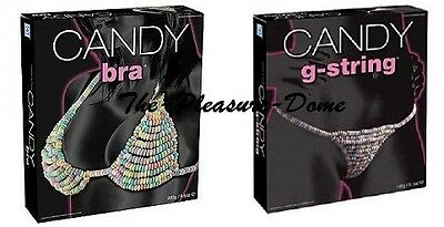 Candy G-String & Candy Bra  Hen Night Party Stag Xmas Edible Fun Gift Valentine