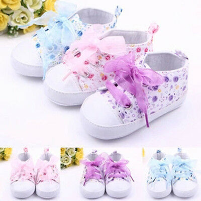 0-12M Baby Kids Girls Crib Shoes Toddler Soft Sole Sneakers Prewalker Boots Hot