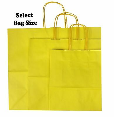 Yellow Paper Gift Bags ~ Boutique Shop Party Bag ~ Pick Size Small Medium Large