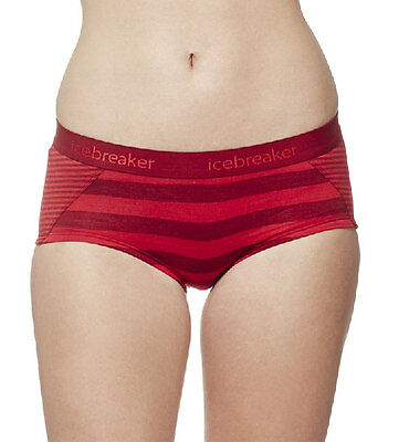 Icebreaker Sprite Hot pants Woman, oxblood, rocket