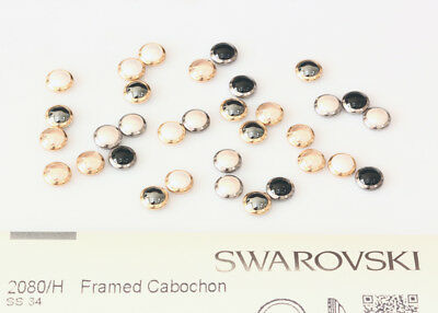 Genuine SWAROVSKI 2080/H Framed Flat Back Hotfix Cabochons * Many Colors